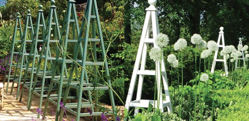 wooden garden obelisk