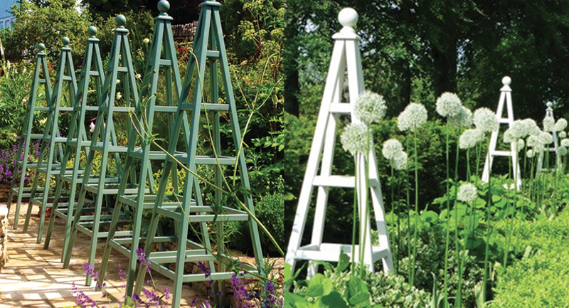 Beautiful Wooden Garden Obelisk