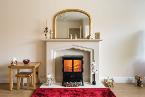 Home interiors fireplace woodburner stove