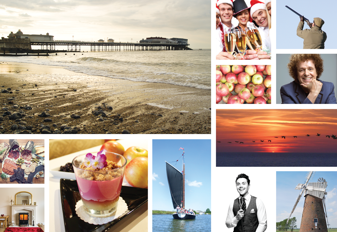Suffolk Norfolk Life Magazine October 2015 Cromer Pier, Norfolk Norfolk, Christmas Parties, Shooting, Apples, Wherry
