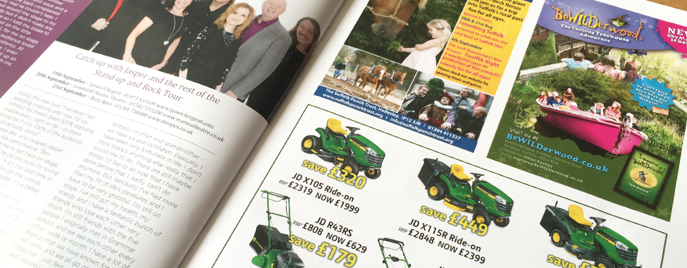 Advertise in Suffolk Norfolk Life East Anglian Lifestyle Magazine