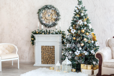 christmas decorations in the home
