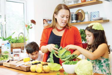 Making healthy family meals
