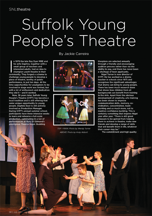 suffolk young peoples theatre